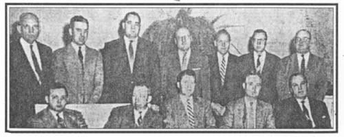 Springfield Chamber of Commerce's first board of directors, 1956